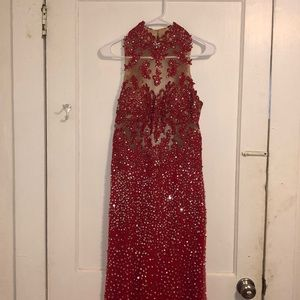 Red ball gown!